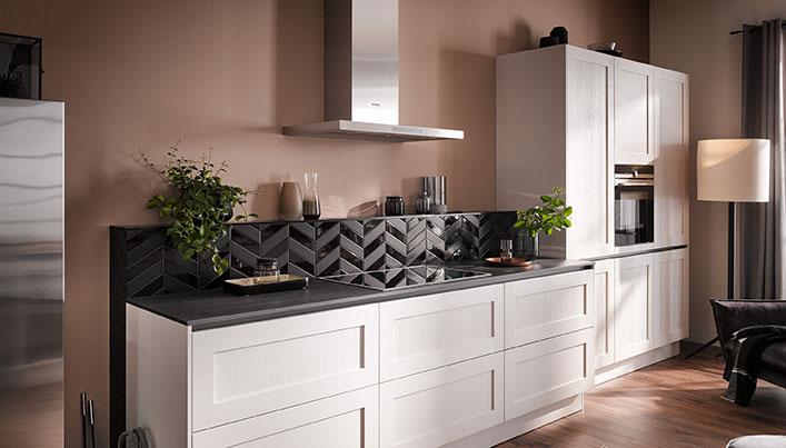 Keuken met recirculatie afzuigkap   Satink Keukens